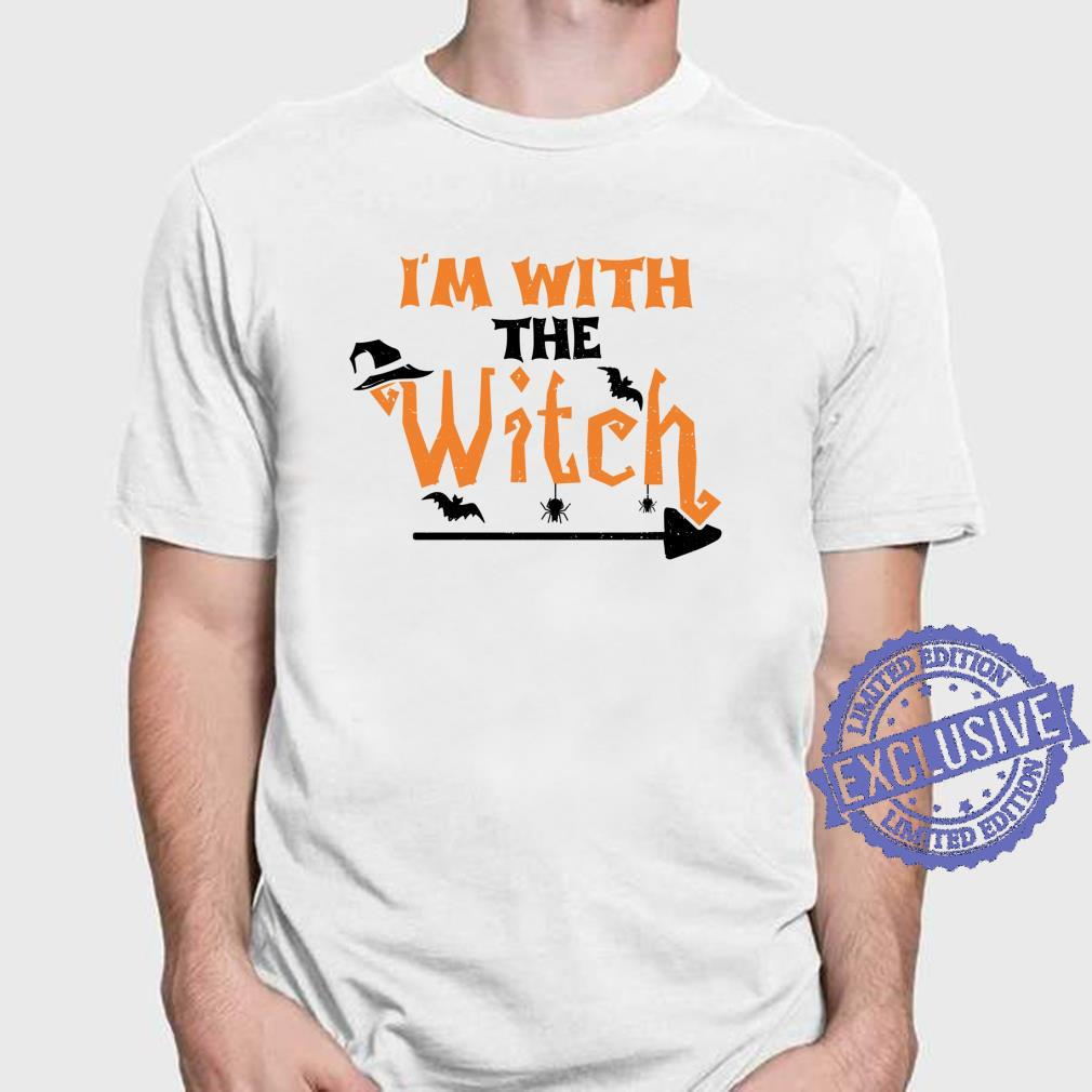 Halloween Paar I'm With The Witch Hexe Shirt